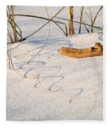 Beach Wood And Curly-q Fleece Blanket