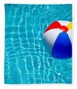Beachball On Pool Fleece Blanket