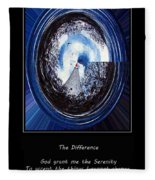 Beacon Of Hope - Serenity Prayer Fleece Blanket