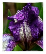 Beaded Iris Fleece Blanket
