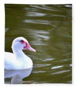 Beak And Feather Reflections Of The Muscovy  Fleece Blanket