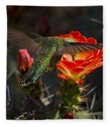 Beak Deep In Nectar  Fleece Blanket