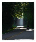 Beam Me Up The Great Smoky Mountains Fleece Blanket