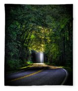 Beam Me Up Great Smoky Mountains Tennessee Mountains Art Fleece Blanket
