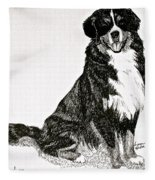 Beaming Berner Fleece Blanket