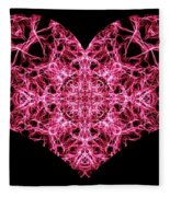 Beaming Heart Fleece Blanket