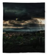 Beams Of Light Over Florence Fleece Blanket