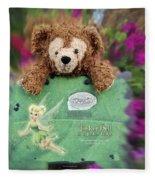 Bear And His Girl Fleece Blanket