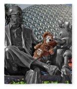Bear And His Mentors Walt Disney World 04 Fleece Blanket