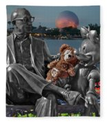 Bear And His Mentors Walt Disney World 05 Fleece Blanket
