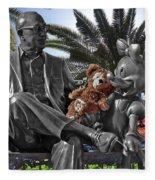 Bear And His Mentors Walt Disney World 06 Fleece Blanket