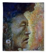 Bear Bull Shaman Fleece Blanket