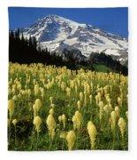 Bear Grass At Mt. Rainier - V Fleece Blanket