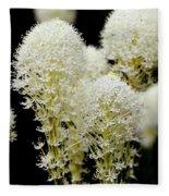 Bear Grass Flowers Glacier National Park Fleece Blanket