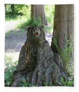 Bear In A Tree Fleece Blanket