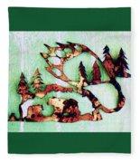 Bear Track 11 Fleece Blanket