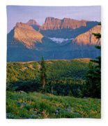 Bear Valley Glacier National Park Fleece Blanket