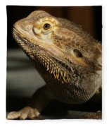 Bearded Dragon Profile Fleece Blanket