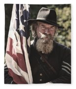 Bearing Old Glory D0256 Fleece Blanket