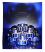 Bearings In Blue Fleece Blanket