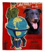 Beauceron Art Canvas Print - The Great Dictator Movie Poster Fleece Blanket