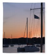 Beaufort Sc Sunset Fleece Blanket