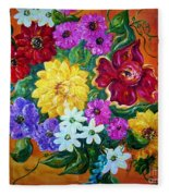 Beauties In Bloom Fleece Blanket