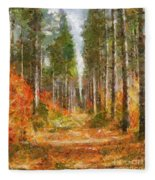 Beautiful Autumn Fleece Blanket