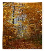 Beautiful Autumn Sanctuary Fleece Blanket