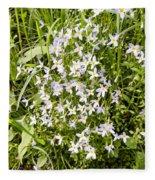 Beautiful Azure Bluets Appalachian Trail Fleece Blanket