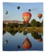 Beautiful Balloon Day Fleece Blanket