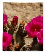 Beautiful Beavertail Cactus Fleece Blanket