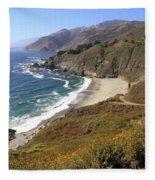 Beautiful Big Sur Coastline Fleece Blanket