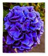 Beautiful Blue Hydrangea Fleece Blanket