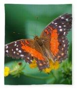 Red Anartia Butterfly 1 Fleece Blanket