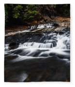 Beautiful Cascade In Western Ghats In Karnataka India Fleece Blanket