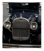 Beautiful Classic Car Front View Fleece Blanket