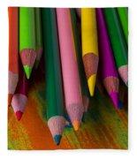 Beautiful Colored Pencils Fleece Blanket
