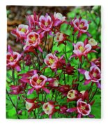 Beautiful Columbine   Fleece Blanket