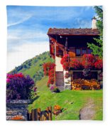 Beautiful Cottage Fleece Blanket