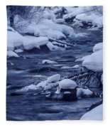 Beautiful Creek In Winter In Stanley Idaho Fleece Blanket