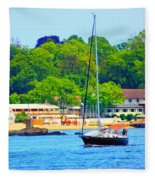 Beautiful Day For Sailing Fleece Blanket