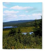 Beautiful Day In The Country Fleece Blanket