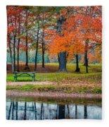Beautiful Fall Foliage In New Hampshire Fleece Blanket