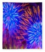 Beautiful Fireworks 10 Fleece Blanket