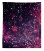 Beautiful Fireworks 12 Fleece Blanket