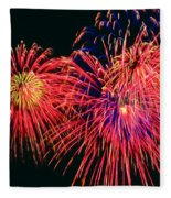 Beautiful Fireworks 14 Fleece Blanket