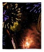 Beautiful Fireworks 5 Fleece Blanket