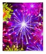 Beautiful Fireworks  6 Fleece Blanket