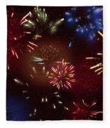 Beautiful Fireworks 9 Fleece Blanket